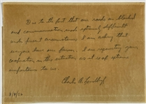 March 2, 1932 Charles Lindbergh Handwritten and Signed Letter - Written Just Hours After the Kidnapping!