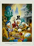 "Carl Barks Signed ""Wanderers of Wonderland"" Print with Donald Duck, Huey, Dewey and Louie and Scrooge McDuck"