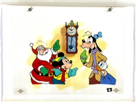 Disney Original Artwork for Childrens Book with Mickey Mouse, Goofy and Donald Duck