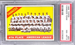 1966 Topps #92 Yankees Team - PSA  NM-MT 8