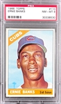 1966 Topps #110 Ernie Banks - PSA  NM-MT 8