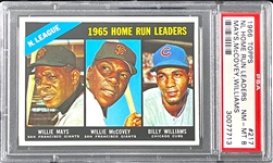 1966 Topps #217 NL Home Run Leaders (Mays McCovey Williams) - PSA  NM-MT 8