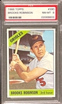 1966 Topps #390 Brooks Robinson - PSA  NM-MT 8