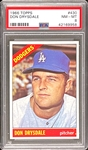 1966 Topps #430 Don Drysdale - PSA NM-MT 8