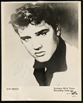 "Elvis Presley Signed 1956 ""RCA Victor Recording Artist"" Promotional Photo – A Lesser-Seen Signed Photo!"