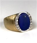 Elvis Presley Owned Gold Ring with Large Lapis Lazuli Stone and 14 Diamonds - Gifted to Joe Esposito – Former Mike Moon Collection