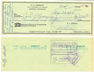 "August 22, 1965, Elvis Presley Signed Check Written for ""For Groceries for Elvis' L.A. House"" While Filming <em>Paradise, Hawaiian Style</em>"