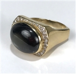 Elvis Presley Owned Gold Ring with Large Black Star Sapphire Stone and 32 Diamonds Gifted to Memphis Mafia Member Charlie Hodge