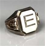 "Elvis Presley Owned Sterling Silver Ring with Large ""E"" on the Face - Gifted to His Cousin Patsy Presley"