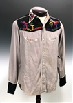 "1954 Elvis Presley Owned ""Starlight Wranglers"" Western Button Down Shirt – Gifted to a Friend at The Bon Air Club in Memphis at one of His Earliest Concerts!"