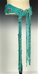 "Elvis Presley Owned Teal Macrame Beaded ""Stage"" Belt – Gifted to His Hairdresser Homer Gilleland"
