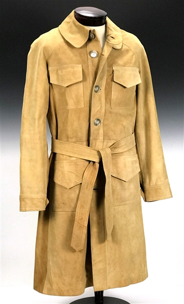 "Elvis Presley Owned ""Bagatelle"" Suede Trench Coat Gifted to His Friend Detective John OGrady – Former Mike Moon Collection"