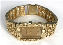 Elvis Presley Owned 14K Gold Genève Watch with Heavy Gold Nugget Band Gifted to J.D. Sumner – Former Mike Moon Collection