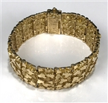 Elvis Presley Stage-Worn 14K Gold Nugget Bracelet Gifted to his Uncle Earl Pritchett – Former Jimmy Velvet Collection