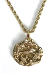 "Elvis Presley Owned 14K Gold Nugget Necklace Gifted to Gospel Singer Dottie Rambo (Writer of the Song ""If That Isnt Love"")"