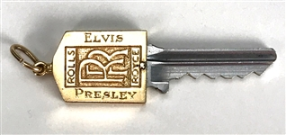 "Elvis Presley Owned 14K Gold Rolls Royce Key with ""ELVIS PRESLEY"" Engraved on the Face – Former Jimmy Velvet Collection"