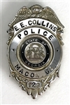 Elvis Presley Owned Macon, Georgia Police Badge Given to Him By Officer Gene E.E. Collins June 1, 1977 at the Macon Coliseum - Gifted to His Producer Felton Jarvis