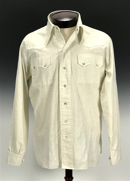 "Elvis Presley Owned ""Casual-aire"" Western Style Shirt from the Circle G Ranch – Gifted to Memphis Mafia Member Marty Lacker – Former Mike Moon Collection"