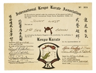 "1974 Elvis Presley Signed Karate Certificate for Sonny Wests ""3rd Degree Brown Belt"""