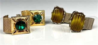 Pair of Elvis Presley Owned Sets of Cufflinks – Gifted to Bodyguard Dave Hebler
