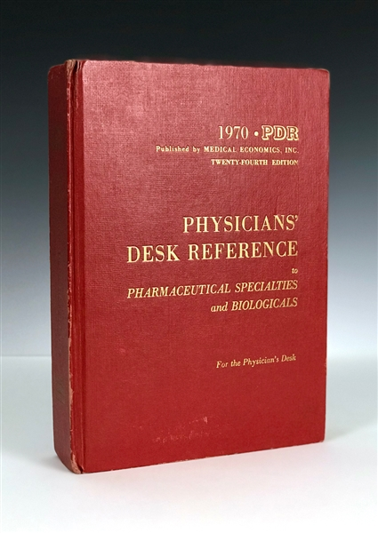 1970 Elvis Presley's Personally Owned Copy of <em>Physicians' Desk Reference of Pharmaceutical Specialties and Biologicals </em>