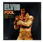 "1973 Concept Art Mock-up For Elvis Presley's LP <em>ELVIS</em> (Known as ""The Fool Album"") - Rejected for Good Reason!"
