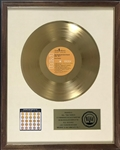 "RIAA Gold Record Award for Elvis Presley's 1970 LP <em>Worldwide 50 Gold Award Hits, Vol. 1</em> - ""To Col. Tom Parker"" - Certified in 1973 - White Linen Matte Style"
