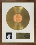 "RIAA Gold Record Award for Elvis Presley's 1970 LP <em>Elvis: That's the Way It Is</em> - ""To Col. Tom Parker"" - Certified in 1973 - White Linen Matte Style"
