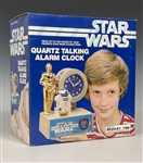 "MINT in BOX ""Bradley Time"" Star Wars Quartz Talking Alarm Clock"