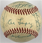 1957 Chicago White Sox Team Signed Baseball with Al Lopez, Larry Doby and Nellie Fox