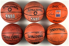 Group of Nine Phoenix Suns Team Signed Basketballs from the 1990s to 2000s