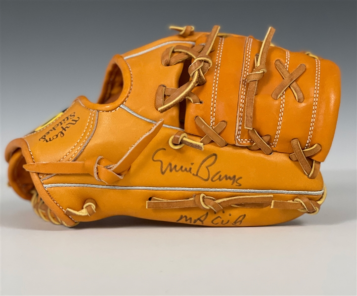 "Banks Signed Wilson ""A2000"" Store Model Glove - ""Ernie Banks Mr. Cub"
