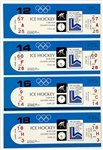 "Complete Set of 8 FULL Tickets from the 1980 ""Miracle on Ice"" U.S. Olympic Hockey Team Games"