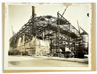 Collection of Five 1928-29 Original Photos of The Chicago Stadium Being Built – Home of the Bulls and Blackhawks