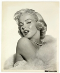 Pair of 1953 Marilyn Monroe Stunning Studio-Issued Glamour Photographs