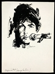 Original Illustration Art of Paul McCartney by <em>Chicago Sun-Times</em> Artist John Downs