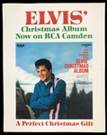 1970 RCA Record Store Counter Card for Elvis Presleys LP <em>Elvis Christmas Album</em> - Never Been Used!