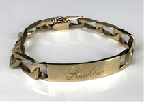 "1972 Elvis Presley Gifted 14k Gold ""Jackie Kahane"" Bracelet with ""TCB Historian from Elvis"" Engraved on the Reverse"