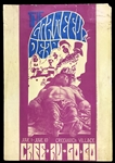 "1967 Grateful Dead Concert Poster from ""Cafe Au Go Go"" in Greenwich Village - Incredibly Rare - Daniel Fennell Artwork"