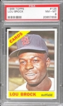 1966 Topps Baseball #125 Lou Brock PSA NM-MT 8