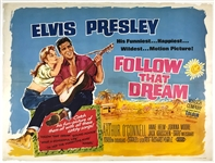 1962 <em>Follow That Dream</em> British Quad Movie Poster - Starring Elvis Presley - A Rarely Seen Example!