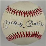 Mickey Mantle Single Signed OAL Bobby Brown Baseball