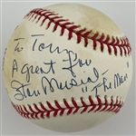 Hall of Famer and Superstars Signed Ball Collection of Six with Stan Musial, Pete Rose (2), Tony La Russa/Whitey Herzog (2) and Bob Costas