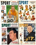1950s <em>SPORT</em> Magazine Collection of 32 with Great Covers: Jackie Robinson, Sugar Ray Robinson, Bob Cousy, Roy Campanella and Others