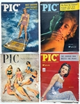 Collection of 1930s to 1940s  Hollywood Pin-Up Magazine Collection Including <em>SEE</em> (15), <em>PIC</em> (7) and Several Others