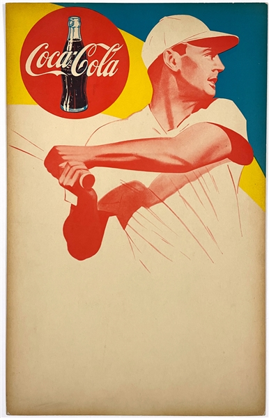 Ted Williams Coca-Cola Advertising Poster