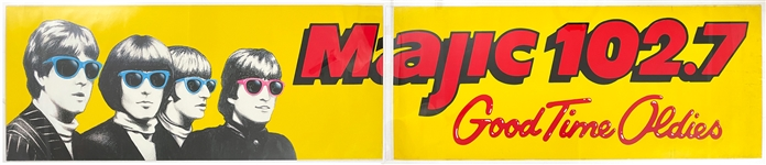 "Massive 1990s Radio Station Bus Sticker Featuring The Beatles – ""Majic 102.7 Miami"""