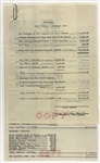 Elvis Presley February 1956 Concert Tour Financial Statements Signed by Tour Manager Tom Diskin