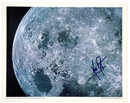 Neil Armstrong Signed Official NASA Photo of Moons Sea of Tranquility