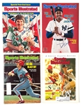 Baseball Greats and Hall of Famers Signed <em> Sports Illustrated</em> Collection of Seven (7) with Frank Robinson, Pete Rose and Others